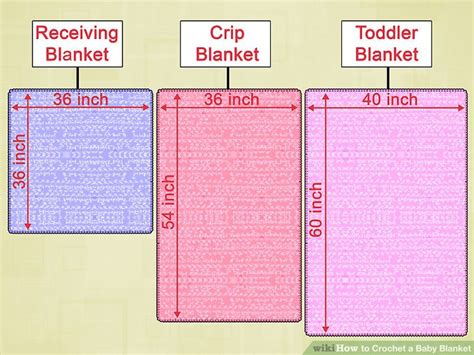 Baby Blanket Dimensions Crochet by 6 Ways To Crochet A Baby Blanket Wikihow