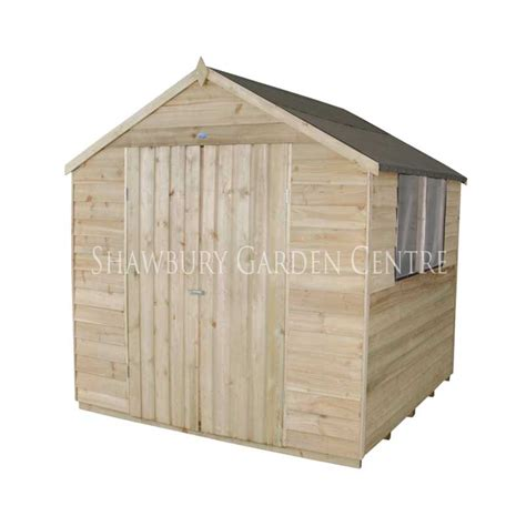 7 X 7 Garden Sheds by Forest Garden 7 X 7 Pressure Treated Overlap Apex Shed