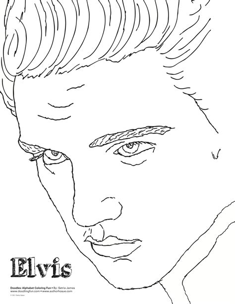 Elvis Coloring Sheet Doodles Ave Elvis Coloring Pages