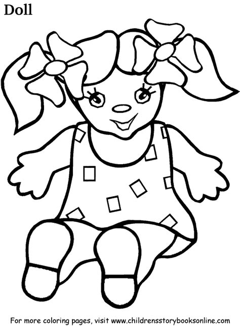 Coloring Book Pages For Children Doll Doll Coloring Page