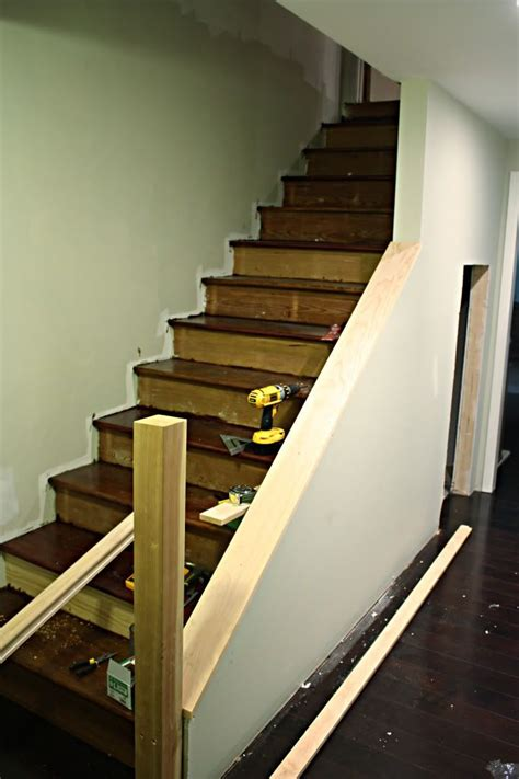 replace banister with half wall replace stair railing with half wall joy studio design