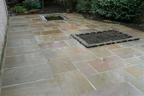 large stone flagged patio davey driveways