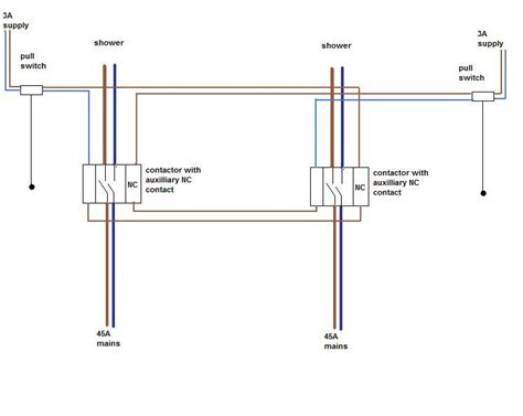 pole contactor wiring diagram throw limit