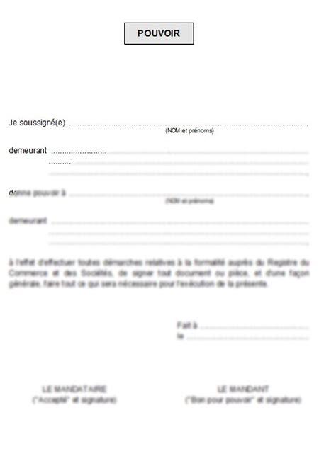 Lettre De Procuration Pour Retirer Un Visa Modele Lettre Procuration