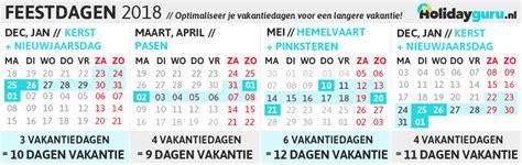 Kalender 2018 Feestdagen En Vakanties 2018 Feestdagen