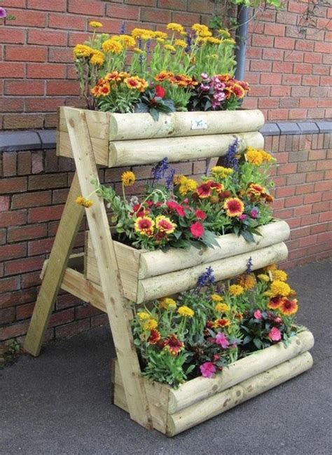 Garden Flower Pots Wooden Flower Pots Ideas Modern Magazin