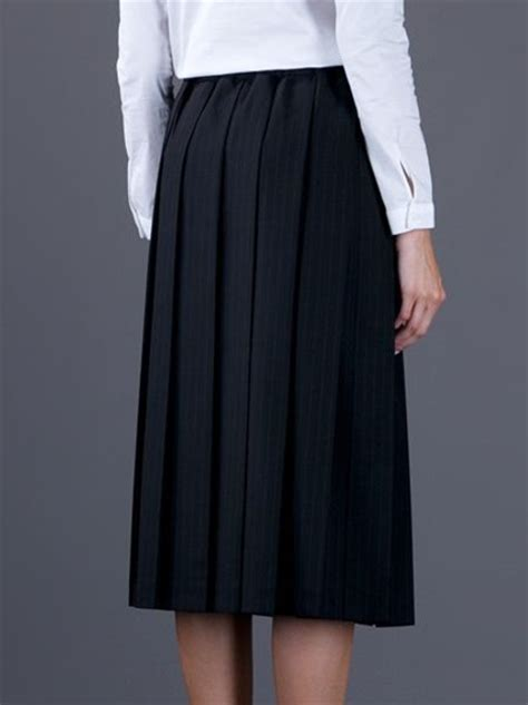 comme des gar 231 ons high waisted pleated skirt in black lyst