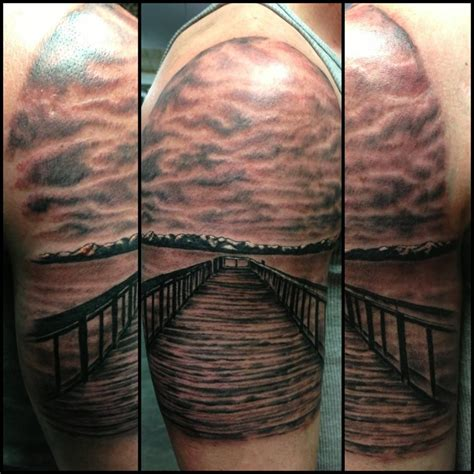 lake tahoe tattoo of pier on lake tahoe by fortier lucky 7