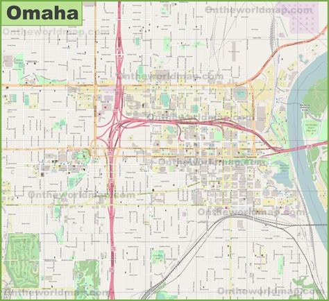 omaha nebraska usa map large detailed map of omaha