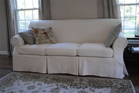 canvas slipcovers for sofas cozy cottage slipcovers brushed canvas sofa slipcover