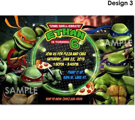 tmnt mutant turtles invitation printable
