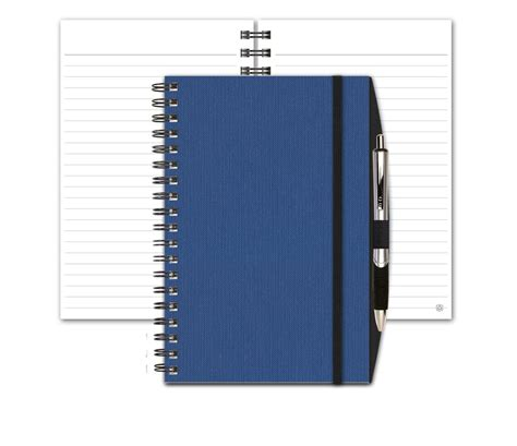 linen notebook with penport pen graph or lined jo bos