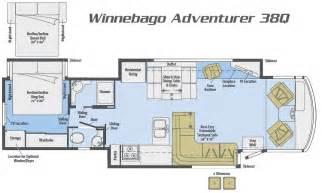Winnebago Via Floor Plans by Winnebago Adventurer Motorhome Class A Rv