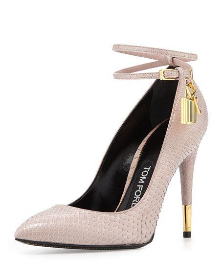 high heels with locks tom ford python lock high heel pointed toe