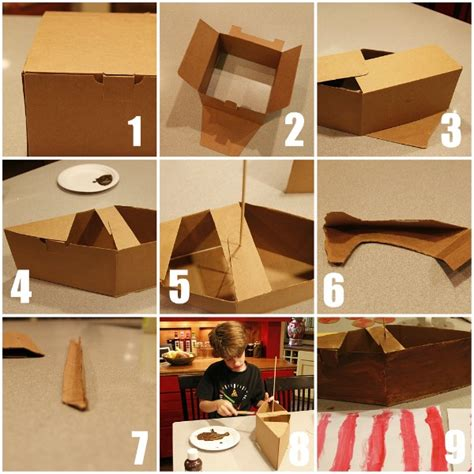 How To Make A 3d Ship Out Of Paper - make a viking ship