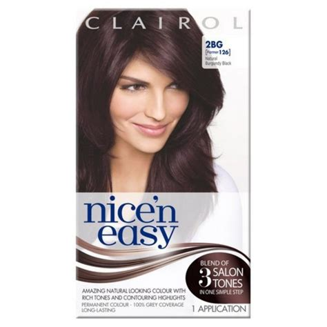 buy clairol nice n easy hair colour burgundy 113 1pk online at clairol nice n easy permanent hair colour natural burgundy