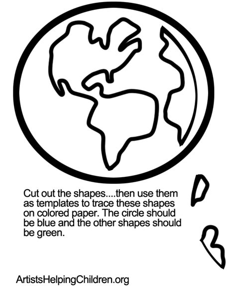 earth template how to make a multicultural around earth craft for