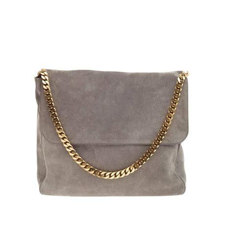 Fashion Bag 1608 V gourmette shoulder bag suede large at 1stdibs