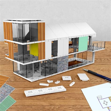 3d home kit by design works inc architectural model making kit 120 by arckit