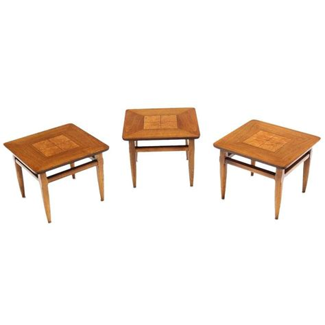 set of three end tables set of three square end tables for sale at 1stdibs end