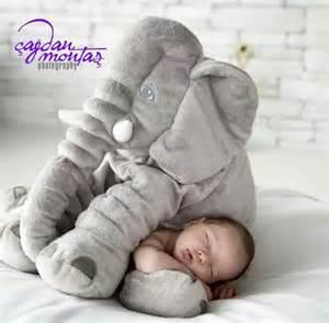 ins large elephant pillows cushion baby plush stuffed