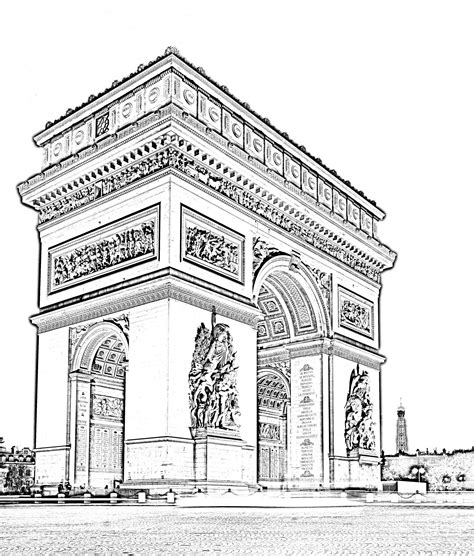 doodle definition francais l arc de triomphe en haute d 233 finition 224 coloriera partir