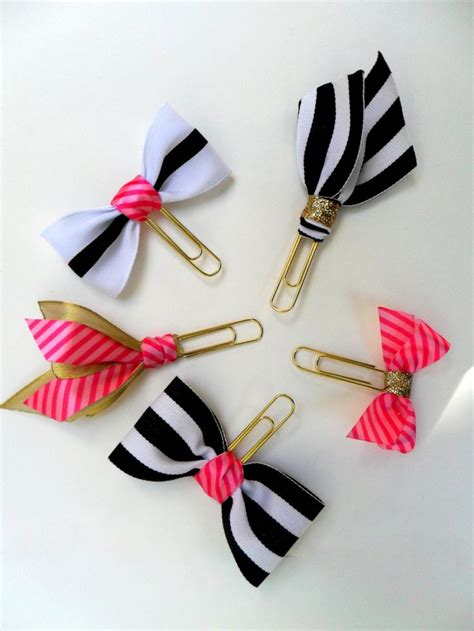 How To Make A Paper Clip Bow And Arrow - gold paper gold planner supplies bow paperclips