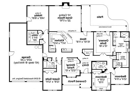 home design blueprints ranch house plans west creek 30 781 associated designs