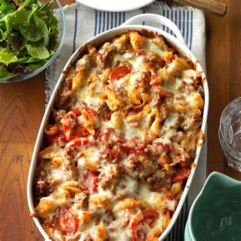 To Market Recap Chicken With Pasta by Italian Pasta Bake Recipe Taste Of Home