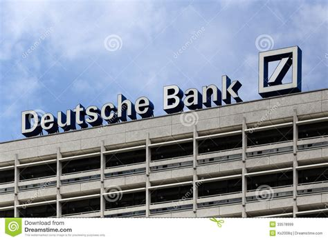 barclays bank berlin berlin germany the deutsche bank logotype editorial