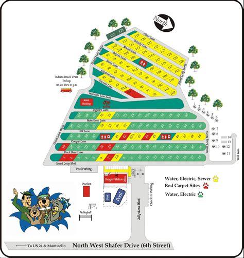 indiana resort map ideal rv resort monticello in gps csites