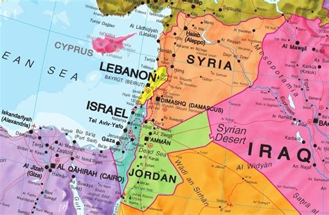 middle east map lebanon syria middle east wall map as a poster asia asia wall maps