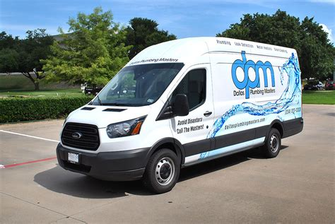 master ford dallas plumbing masters ford transit partial wrap