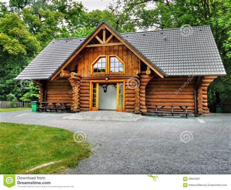 Wooden Log Cabins Holidays by Wooden Cabin Log House Stock Image Image 59604287