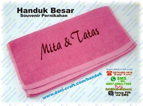 Handuk Souvenir souvenir handuk besar bordir nama harga murah souvenir pernikahan