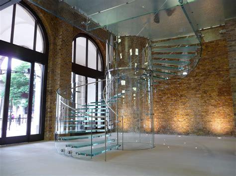 Concrete Loft Incredible Loft Spiral Glass Staircase Design Showcasing