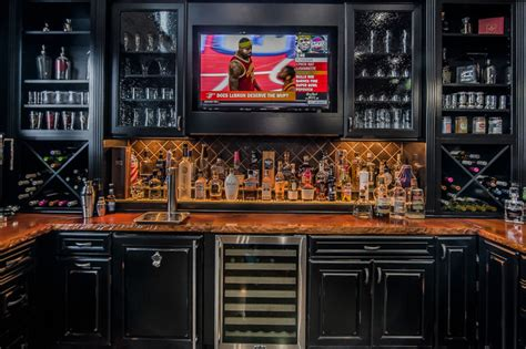 ultimate cave eclectic home bar columbus by romanelli hughes custom home builders