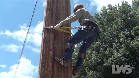 Laminated Wood lws pole climbing video youtube