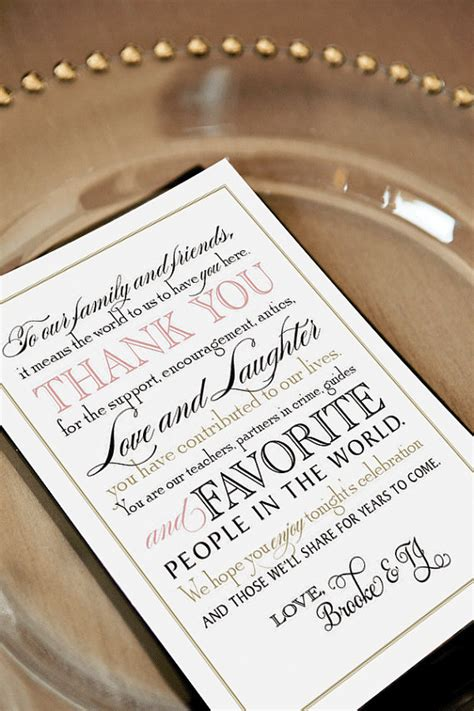 Thank You Letter Wedding Guest printable wedding thank you note for guests calligraphy