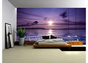Wall Art Murals Uk Wallpaper Mural Purple Seaside Fleece Photo Wallpaper