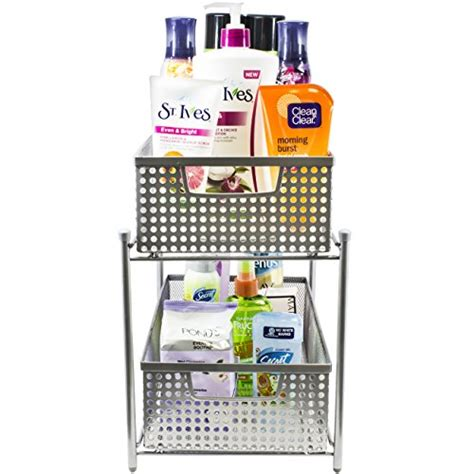 54017231 mesh base baskets for kitchen storage sorbus 2 tier organizer baskets with mesh sliding drawers