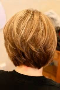 images of layered haircuts from the back short stacked bob hairstyles back view