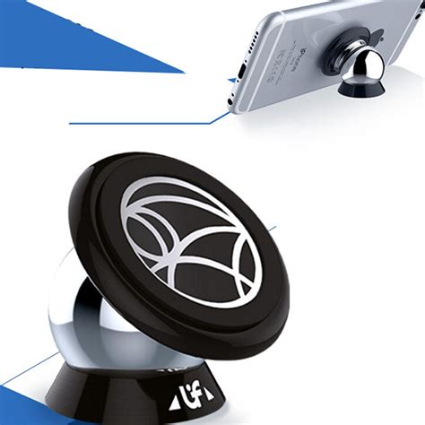 Universal 360 Degree Magnet Car Holder For Smartphone Silver 1 360 degree steelie magnetic car mount uf a car universal mobile phone holder car kit magnet