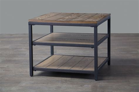 wood and metal end table end tables designs metal and wood end table baxton