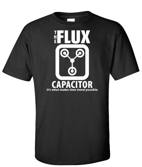 flux capacitor shirt back to the future the flux capacitor logo graphic t shirt supergraphictees