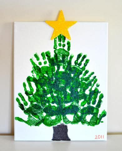 christmas tree crafts for preschool using handprint best 25 handprint tree ideas on print tree tree and