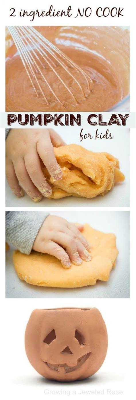 pumpkin play clay recipe slime play dough recipes  kids fall crafts fall preschool play