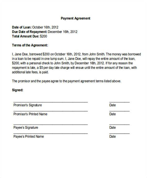 request medical payment plan template
