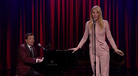 gwyneth paltrow sings broadway versions of rap songs gwyneth paltrow and jimmy fallon perform broadway versions