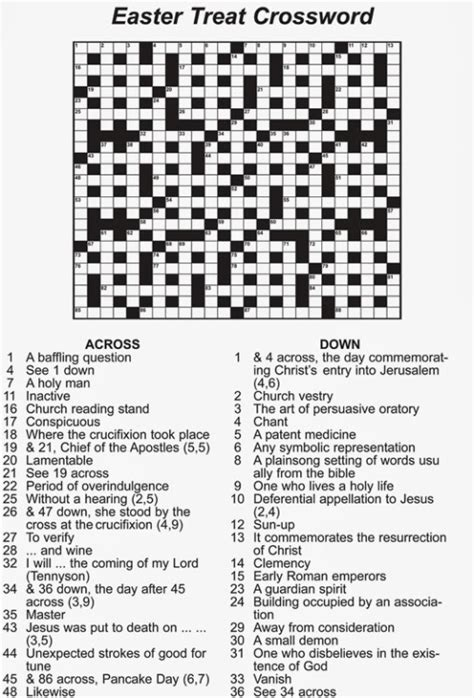 printable easter logic puzzles easter crossword free and printable